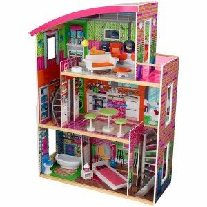 $99.99 (原价$249.99)KidKraft 超大型三层木质玩具屋