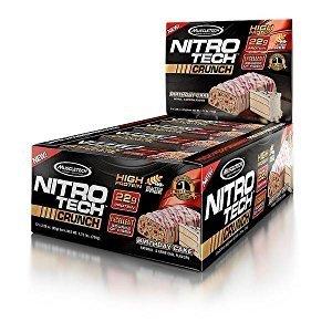 $9.26 包邮史低价:MuscleTech NitroTech压缩巧克力蛋白棒,65克,12支