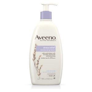 特價$7.97(原價$9.32)Aveeno Stress Relief Moisturizing Lotion For 24 Hour Moisturization, 18 Fl. Oz