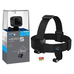 $249.00(原价$339.00)GoPro HERO5 Session 运动相机套装 头带+16GB Sandisk TF