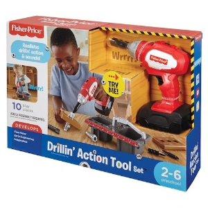 Kohl's 现有fisher price儿童电钻$10.79Fisher-Price Drillin' Action Tool Set | null