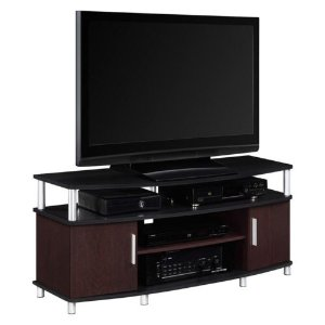 $49Ameriwood Home Carson TV Stand - Cherry / Black
