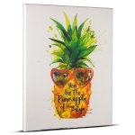Crystal Art Pineapple Watercolor Painting Print Wrapped Canvas Wall Art