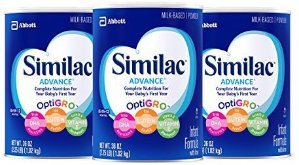 $58Similac Advance Infant Formula with Iron, Powder, One Month Supply (3 Packs of 36 Ounces)
