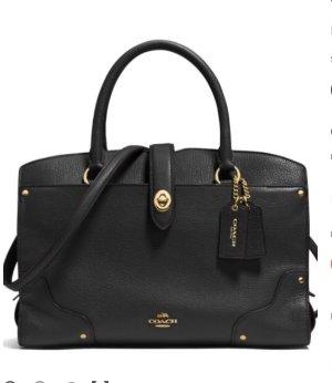 $174COACH Mercer 30 Grained Leather Satchel @ Lord & Taylor