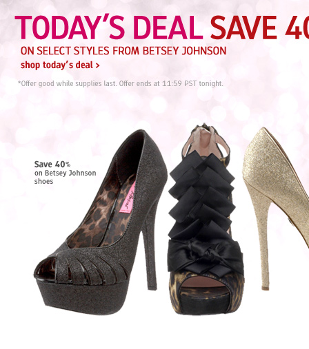 40% - 60% OFFEndless 12 Days of Deals: 40% - 60% OFF Betsey Johnson