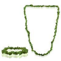 75 Carat All Natural Uncut Genuine Peridot Necklace and Bracelet Set