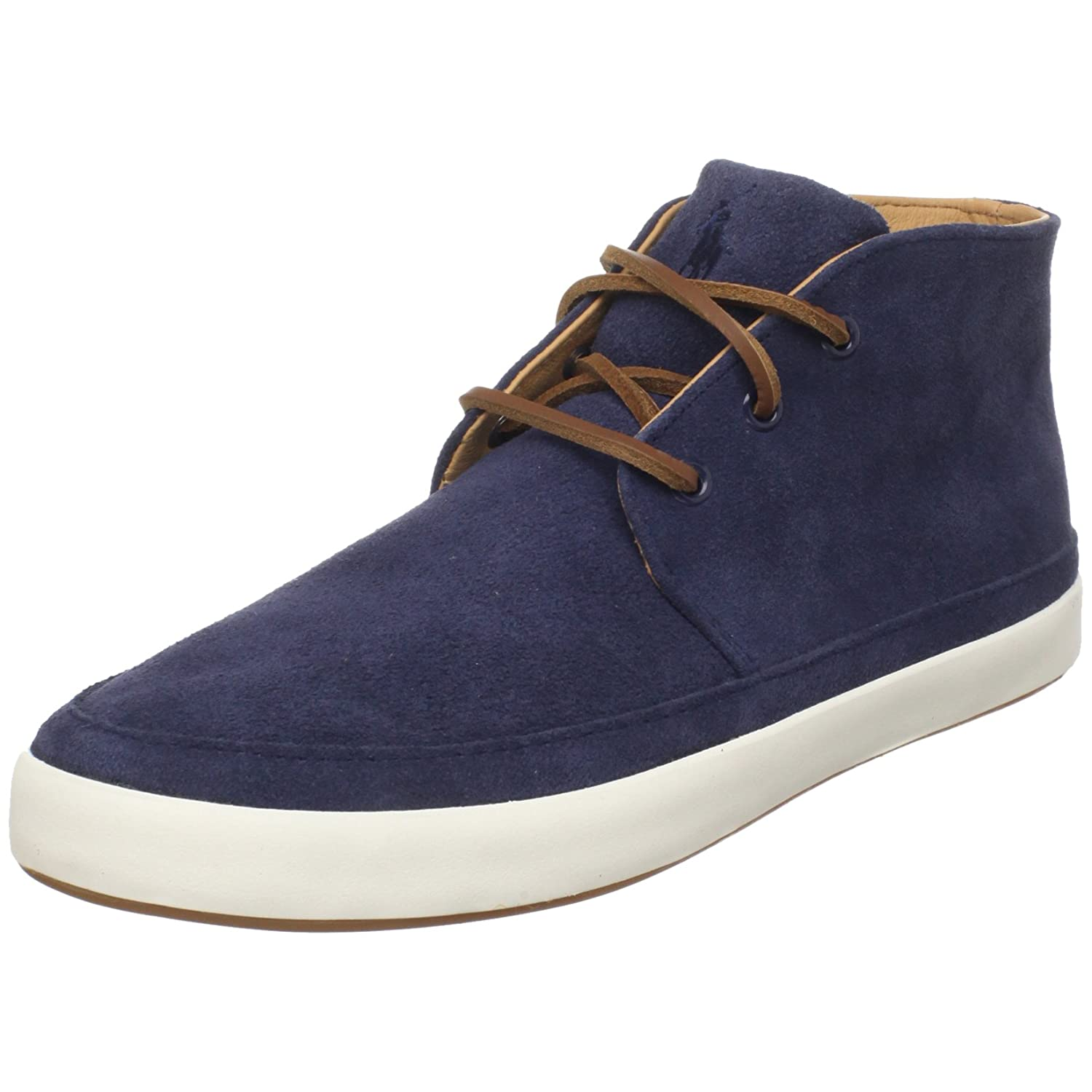 $47Polo Ralph Lauren Men's Erwin Leather Sneaker (Navy)