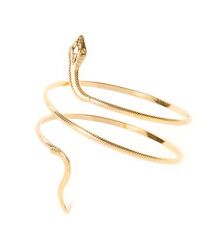 Textured Gold Snake Wrap Around Arm Cuff Bracelet
