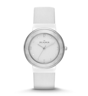 Leonora Ceramic Leather Watch