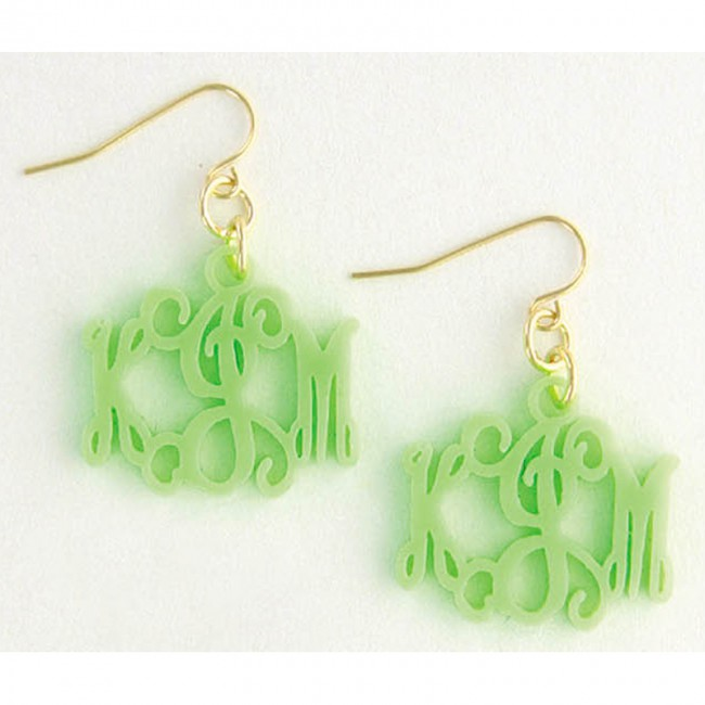 Floating Monogram Earrings by Heartstrings