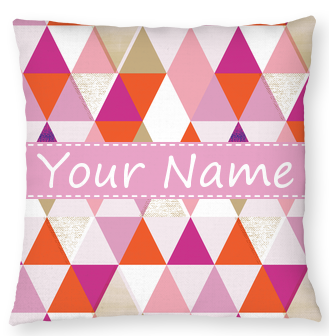 Personalized and Monogram Textured Geo Throw Pillow by Clairebella