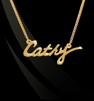 Signature Nameplate Necklace by Jane Basch
