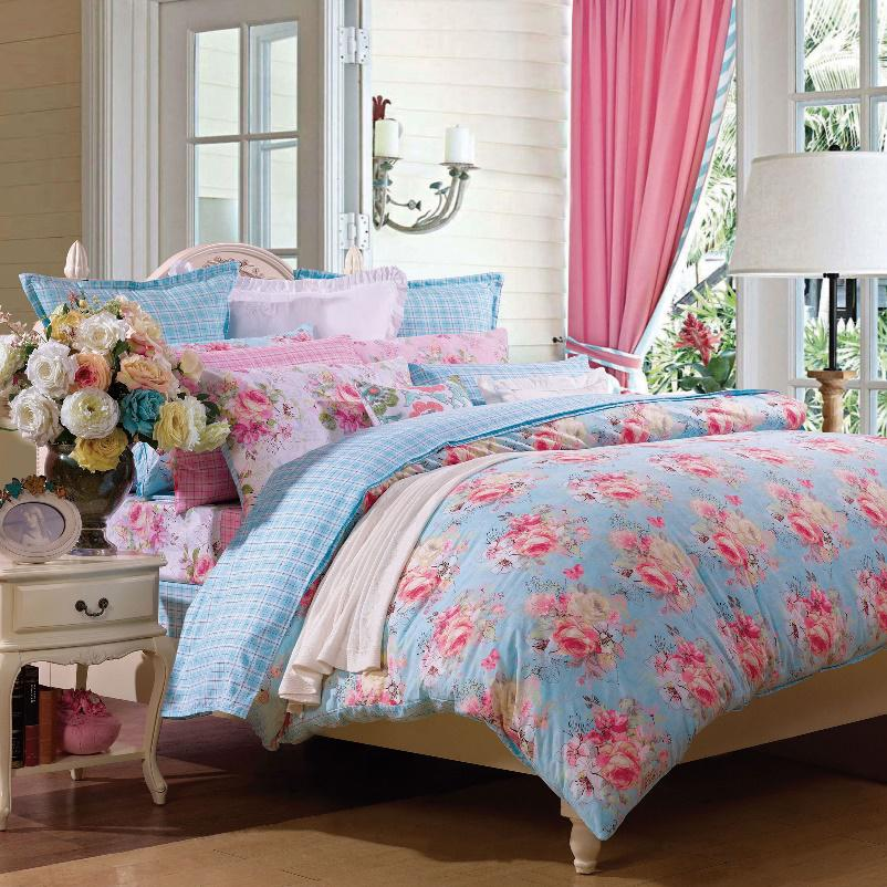 4-Piece Bedding Set / Colorful (Duvet Cover, Bed Sheet, Pillowcases)