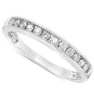 Diamond Band Ring in 10k White Gold (1/5 ct. t.w.)