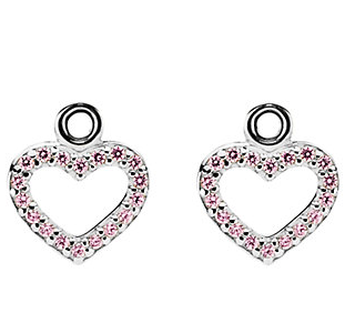 PANDORA Be My Valentine Silver CZ Earring Charms
