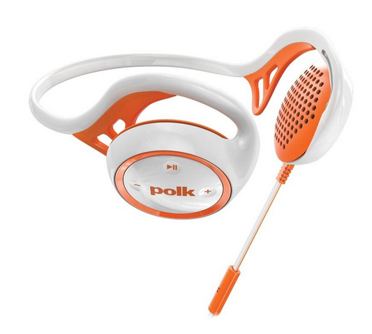 Polk Audio UltraFit 2000 On-Ear Sport Headphone with 3-Button Control for iOS (Orange/White)
