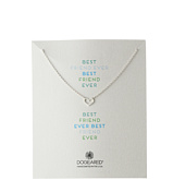 Dogeared best friend ever mini heart necklace sterling silver