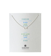 Dogeared forever and ever infinity necklace sterling siver