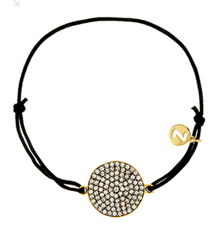 JUPITER PAVE DISC FRIENDSHIP BRACELET