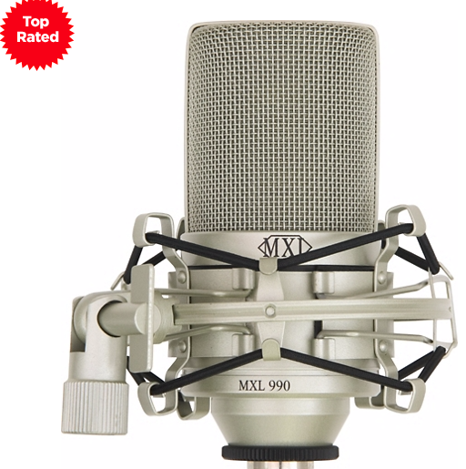 MXL 990 Condenser Microphone with Shockmount