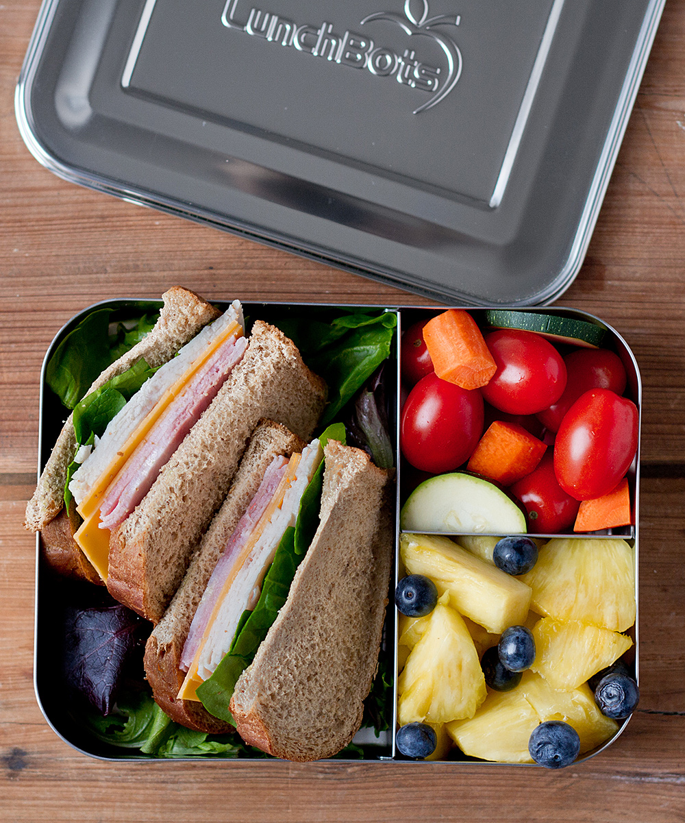 Stainless Steel 32-oz. Trio Divided Bento Container