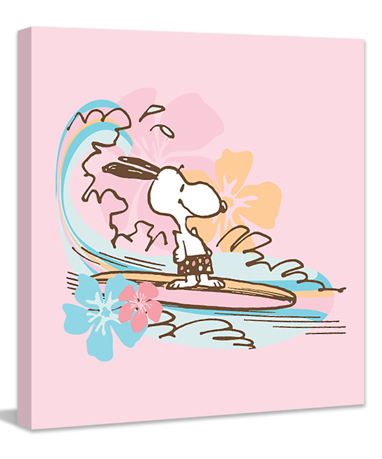 Peanuts Snoopy Surfing Wrapped Canvas