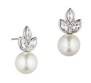 GIVENCHY Faux Pearl Cluster Stud Earrings