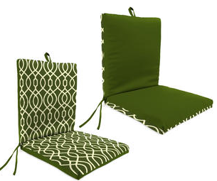 Garden Oasis  Margate Green Clean Look Patio Chair Cushion