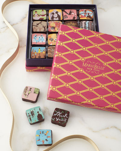 MarieBelle Spring Pink Box with Chocolates