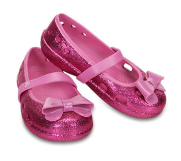 Crocs Keeley Hi Glitter Bow Girls Flat