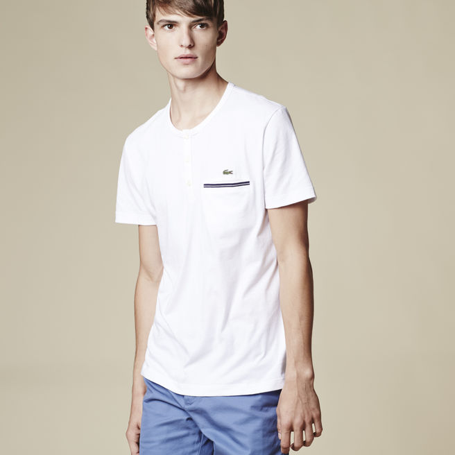 HENLEY T-SHIRT WITH POCKET