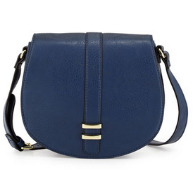 Neiman Marcus Saddle Crossbody Bag, Navy