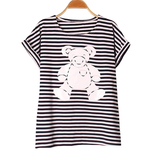 Bear Print Short Sleeve T-Shirt