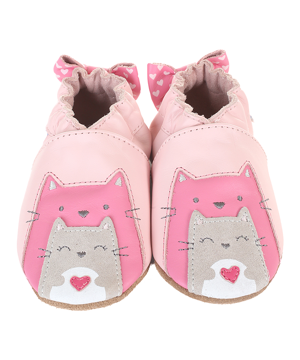 Pastel Pink Sweet Friends Leather Booties