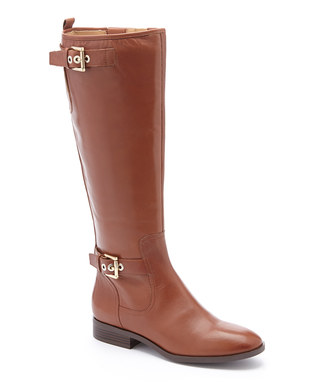 Dark Natural Bring It Wide-Calf Leather Boot