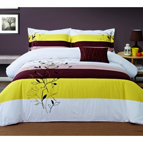 GRACEFUL 4-PIECE EMBROIDERED DUVET COVER SET