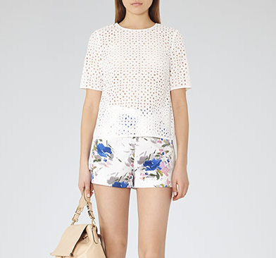 Alexis PRINTED SHORTS WHITE
