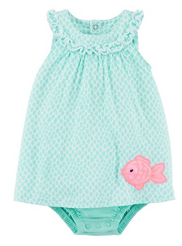 Just One You™Made by Carter's® Newborn Girls' Print Romper - Mint Green