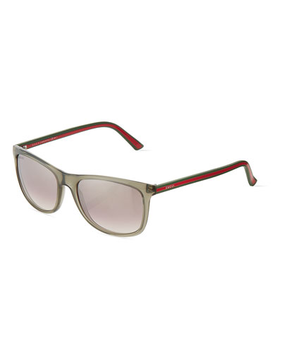 Gucci Clear Plastic 墨镜