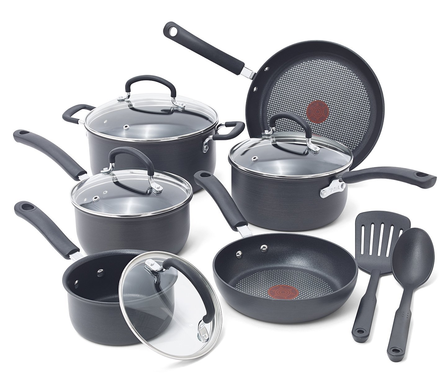 T-fal E918SA 12-Piece Thermo-Spot Heat Indicator Cookware Set
