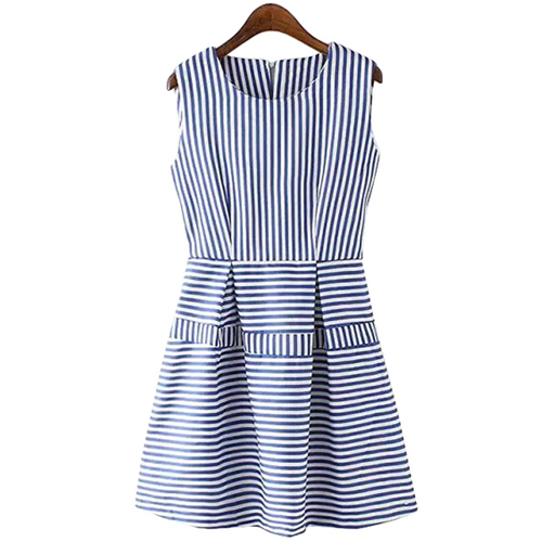 Stripes Spliced A Line Sundress