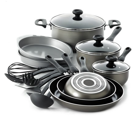 Farberware Nonstick Dishwasher Safe 17 Piece Cookware Set