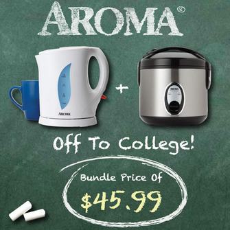 Off2College Bundle: Rice Cooker + Electric Kettle