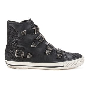 ASH WOMEN'S VALCO LEATHER HI-TOP TRAINERS