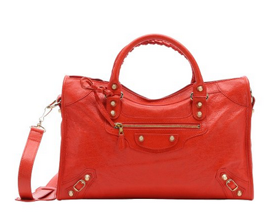 Red Lambskin 'Giant 12' Convertible Tote Bag