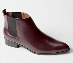 Leather chelsea booties