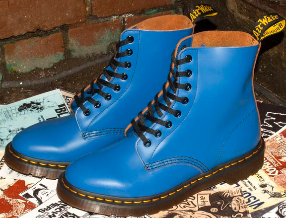 Blue Pascal Leather Boot