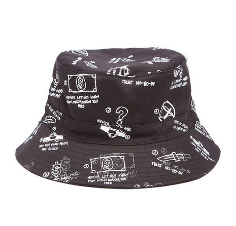RockSmith The Commandments Bucket Hat in Black
