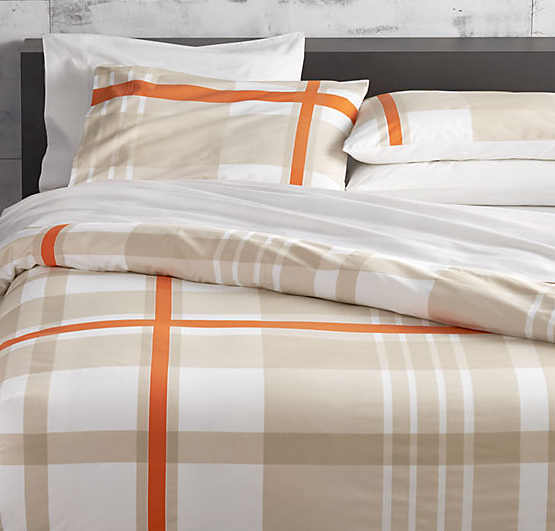 lively orange full/queen duvet cover
